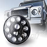 Sirius 7'' LED headlight x1 high low beam position light black reflector NS-2241 for Land Rover Defender FJ Cruiser Jeep