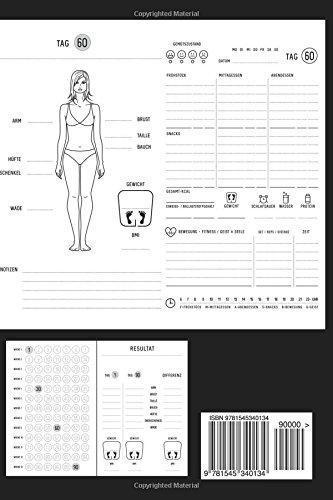 90 Days Fitness Diat Tagebuch Abnehmtagebuch Zum Ausfullen