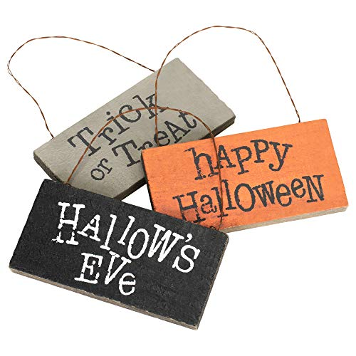 Honey In Me Hallow's Eve Medley 5 x 4 Pallet Wood Rectangle Halloween Hanging Signs Set of -