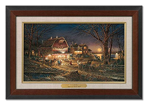 Harvest Moon Ball Framed Walnut Master Stroke by Terry Redlin