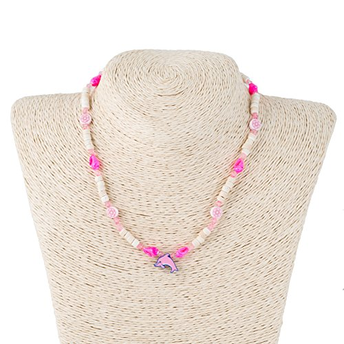 Plastic And Wood Necklace - 1