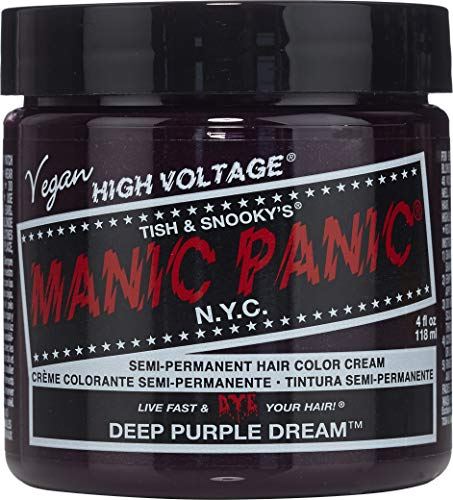 Manic Panic Semi-Permament Haircolor Deep Purple 4 Ounce Jar (118ml)