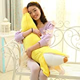 SUIE 1Pcs Soft Simulation Banana Plush Stuffed Toy Novelty Pillow Cushion Bolster