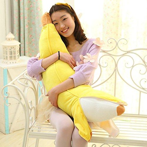 SUIE 1Pcs Soft Simulation Banana Plush Stuffed Toy Novelty Pillow Cushion Bolster (Banana Stuffed Animal)