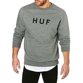 HUF - Sudadera con Capucha - para Hombre Gris XX-Large: Amazon.es: Ropa y accesorios