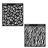 zebra face paint - CrafTreat Stencil - Cheetah & Zebra (2 pcs) | Reusable Painting template for Journal, Notebook, Home Decor, Crafting, DIY Albums, Scrapbook and Printing on Paper, Floor, Wall, Tile, Fabric, Wood 6