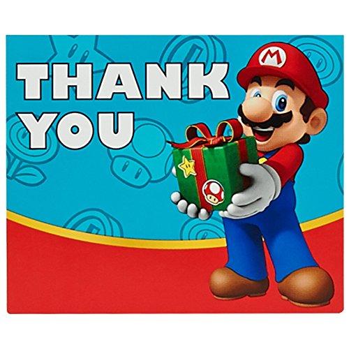 Mario Yoshi Costume Kart (Super Mario Party Supplies - Thank-You Notes)