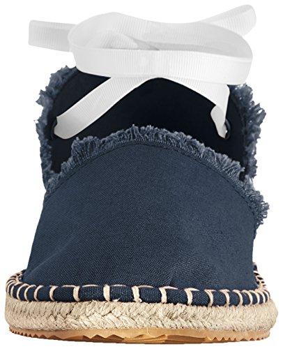 Armani Exchange A X Women's Canvas Espadrille Sandal Navy 4NR1bPB9
