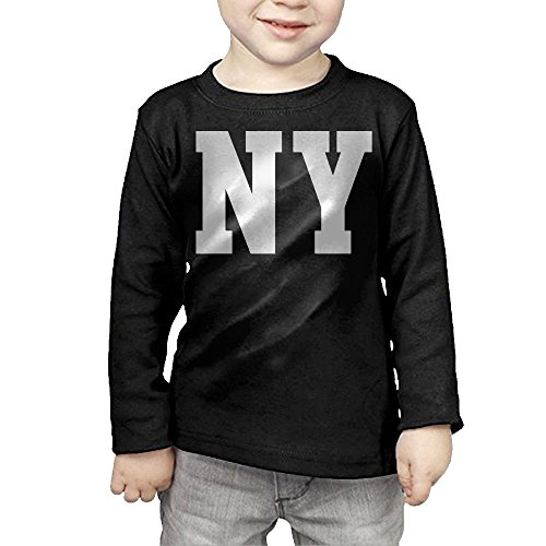 ZheuO Boys & Girls Baby New York Soft 100% Cotton Tee Unisex Black 3 Toddler