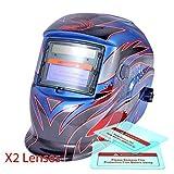 Proelectirc® Viking Blue Professional Auto Darkening Solar Powered Welders Welding Helmet Mask With Grinding Function