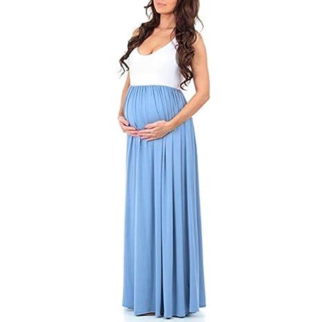 Keepwin Vestido Mujer Vestido Sin Mangas De Chaleco En Maternidad EnfermeríA Embarazada AlgodóN Chaleco Camisas Falda Transpirable Suave: Amazon.es: Ropa y ...