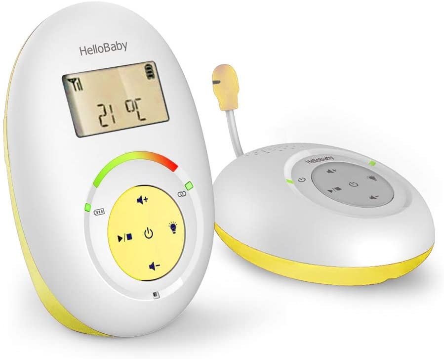 HelloBaby HB180 Audio Baby Monitor with Temperature Sensor