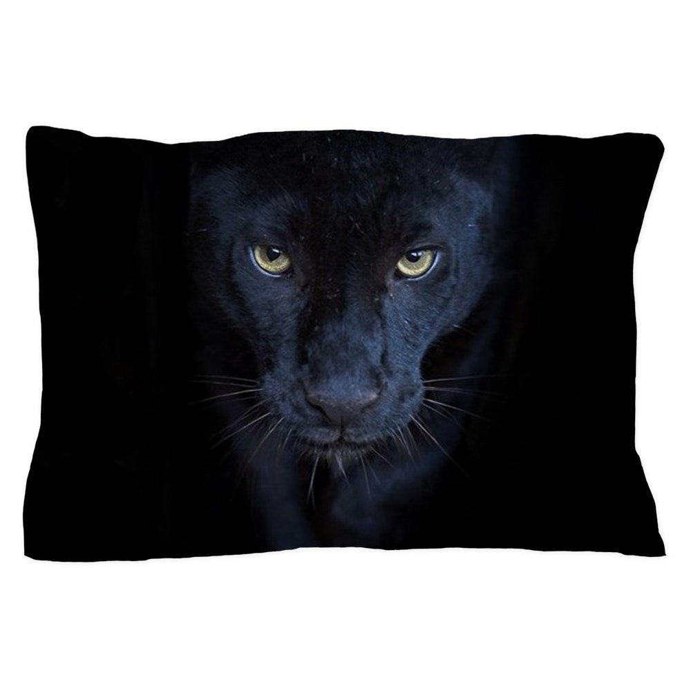 CafePress - Black Panther - Standard Size Pillow Case, 20''x30'' Pillow Cover, Unique Pillow Slip