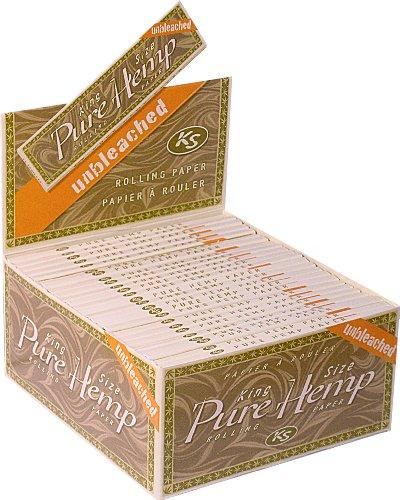 Five Packs - Pure Hemp UNBLEACHED cigarette Rolling Papers -