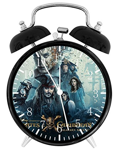 Pirates of the Caribbean Alarm Desk Clock Home Office Decor F113 Nice For Gifts