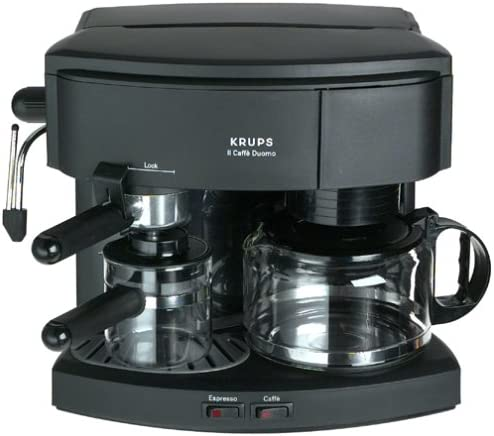 Factory-Reconditioned Krups R985-42 Il Caffe Duomo Combination 8-Cup Coffeemaker and Espresso Machine