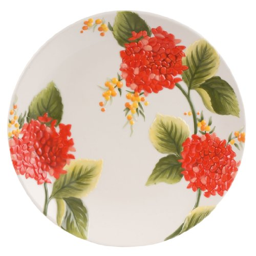 Flower Market Collection, Salad Plate, Sunset - Flowers Yellow Plate