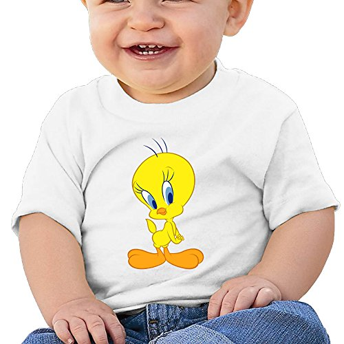 Price comparison product image Boss-Seller Tweety Bird Short-Sleeve Tee For 6-24 Months Boys & Girls Size 18 Months White