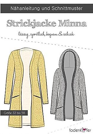 Schnittmuster Fadenkäfer Strickjacke Minna - Damen in den Größen 32 ...