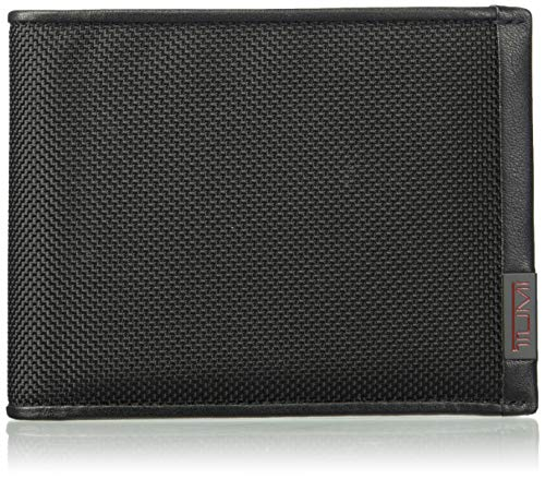 Tumi Men's Alpha Global Removable Passcase ID with RFID Blocking Wallet, Black, one Size