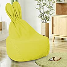 Kids Sofa Chair Bunny Rabbit Bean Bag Comfortable Cushion Mini Chair, Birthday Gifts for Toddlers, Child, Baby, Infant (Yellow)