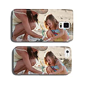 mother daughter fishing beach cell phone cover case Samsung S6