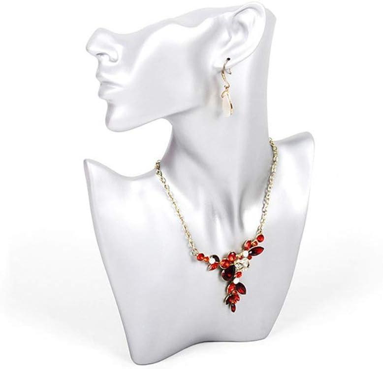 Regalos de cumpleaños Mujeres Niñas Pendientes de Collar de Joyas Creativas Accesorios de exhibición de Almacenamiento de Joyas (Color: Plata, Tamaño: 27X19X6cm) Almacenamiento
