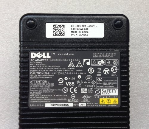 Genuine 210W Dell D846D DA210PE1-00 AC Power Adapter Charger 19.5V 10.8A 210W by Dell