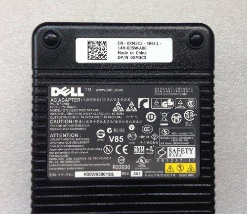 210W DELL Genuine Original OEM Precision M4400 M4500 M4600 M4700 M6400 M6500 M6600 M6700/Alienware M17X Laptop AC Adapter Charger 19.5V 10.8A Notebook Mobile Workstation Computer Battery Charger DA210PE1-00 D846D Y044M 330-4128