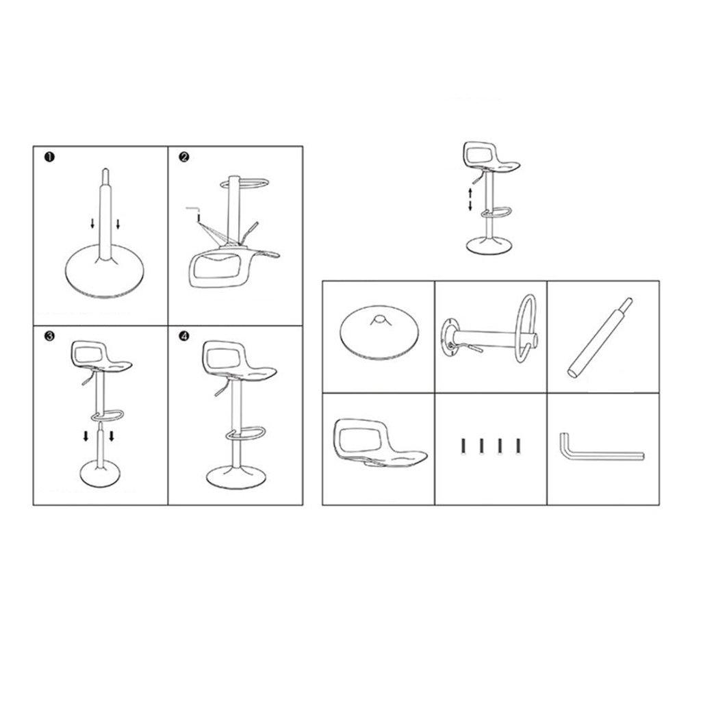 Amazon.de: Stilvoller Glanz-Schwarz-Plastikstab-Schemel-Küchen ...