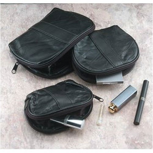 Embassy 3 pc Leather Makeup Bag (Leather Italian Giovanni)