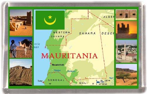 Mauritania Mapa al por mayor paquete 12 imanes de nevera regalo de ...