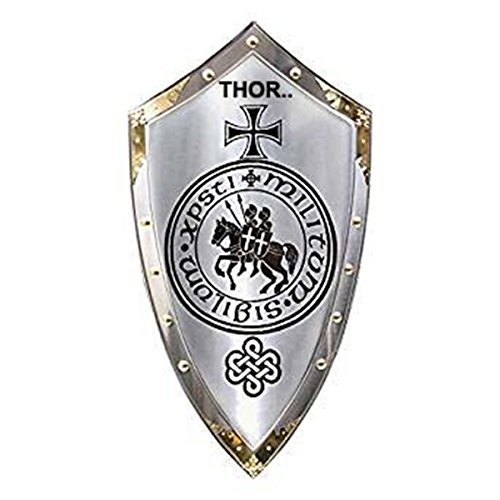 THORINSTRUMENTS (with device) Armor Marto of Spain Knights Templar Medieval Shield for (King Of Spain Costume)