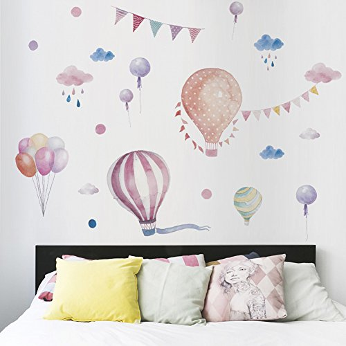 Mznm Hot Air Balloon Wall Stickers Decoration by Mznm