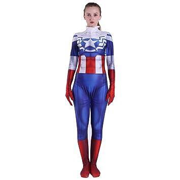 QQWE Capitán América, Traje de Cosplay, para Mujer, Peggy ...