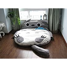 Totoro Double Bed Sleeping Bag Pad Sofa Bed Mattress for both kids Or Adult (Grey, 4*3ft)