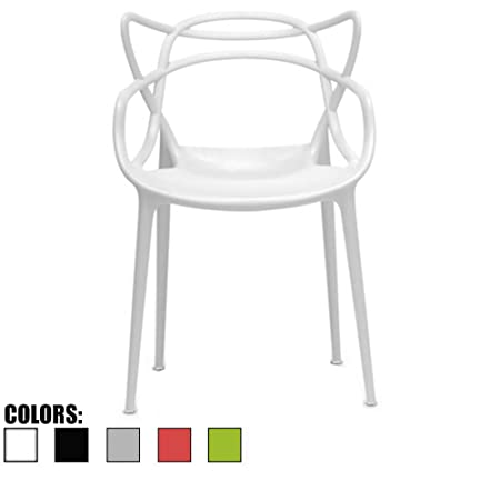 2xhome White Dining Room Chair – Modern Contemporary Designer Designed Popular Home Office Work Indoor Outdoor Armchair Living Family Room Kitchen Bed Bedroom Porch