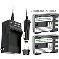 Kastar Battery (2-Pack) and Charger Kit for Canon NB-2L NB-2LH NB-2L12 NB-2L14 NB-2L24 BP-2L5 BP-2LH work with Canon DC301 DC310 DC320 DC330 DC410 DC420 Elura 40 50 60 65 70 80 85 90 EOS 350D 400D Digital Rebel XT XTi FV500 FVM20 FVM30 FVM100 FVM200 HG10 HV20 HV30 Optura 30 40 50 60 400 500 PowerShot G7 G9 S30 S40 S45 S50 S60 S70 S80 VIXIA HF R10 HF R100 HF R11 HG10 HV20 HV30 HV40 ZR100 ZR200 ZR300 ZR400 ZR500 ZR600 ZR700 ZR800 ZR830 ZR850 ZR900 ZR930 ZR950 ZR960