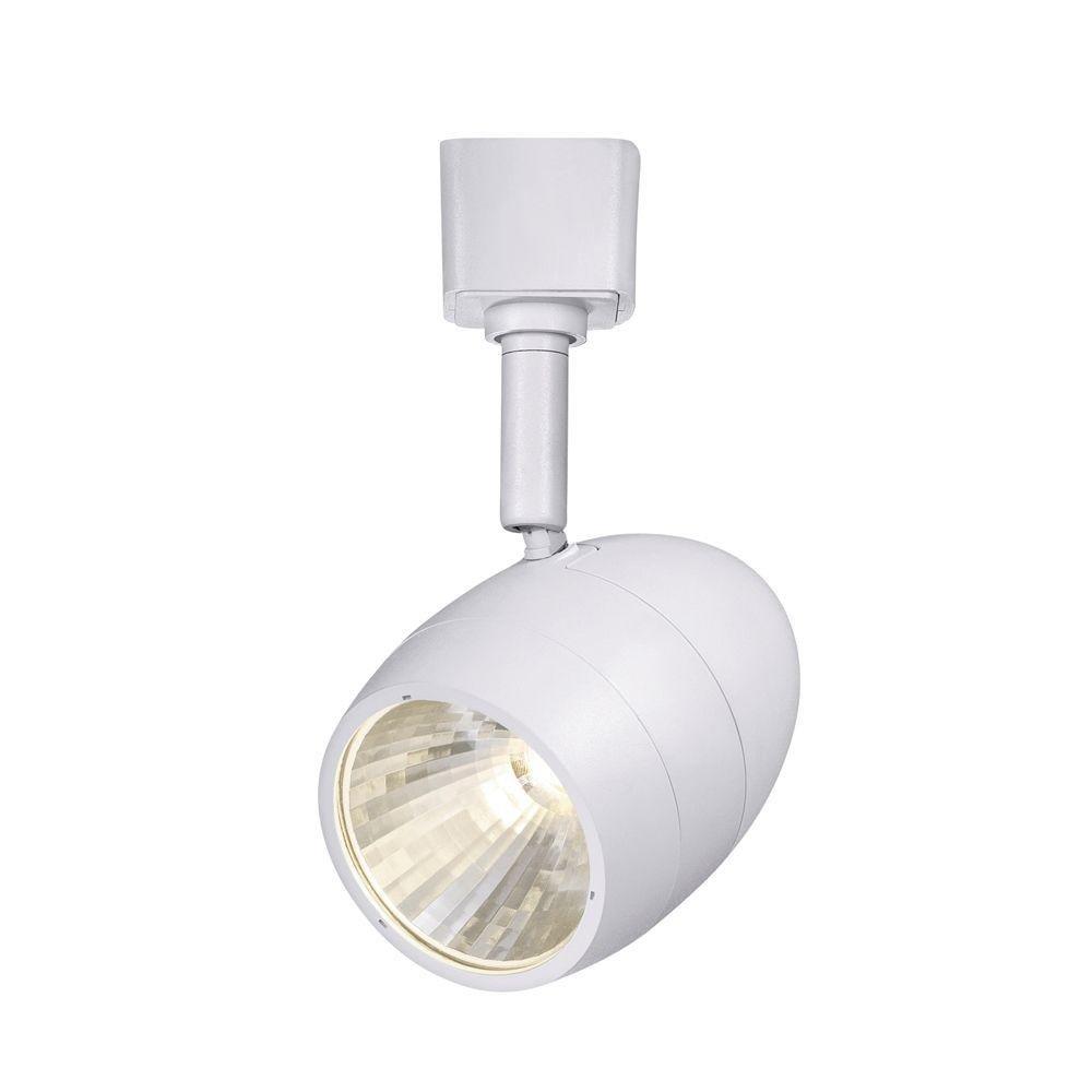 Hampton Bay 2.56 in. 1-Light White Dimmable LED Track Lighting Head