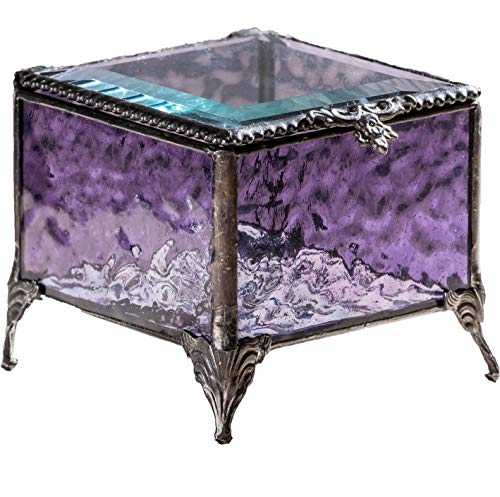 Purple Glass Jewelry Box