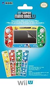 Wii U Gamepad And Remote Decorative Skin And Screen Filter Super Mario Bros U Version from HORI
