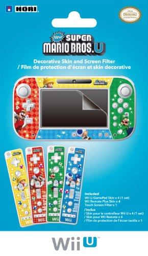Wii U GamePad and Remote Decorative Skin and Screen Filter