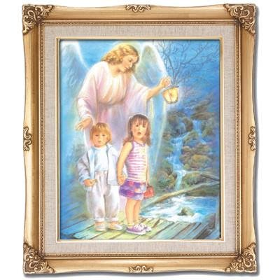Guardian Angel Framed Art by Discount Catholic Store