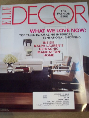 Elle Decor October 2010 The Fashion Issue What We Love Now Inside Ralph Lauren's Ultrachic Manhattan Home (Ralph Decor Home)