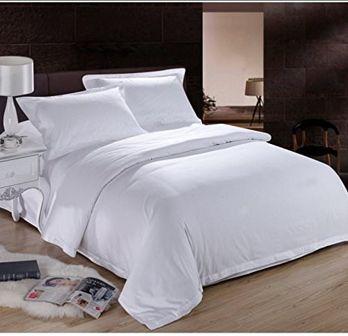 Real 450 Thread Count Egyptian Cotton Short Queen Size 4-Piece Sheet Set Solid Fits Mattress Up to 8'' Deep Pocket, Single Ply Soft Fabric, Sold by Precious Star Linen White (Califorina King)