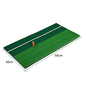 """11.81""""X23.62"""" Golf Hitting Mats Swing Mat Double Color Grass Mini Pad with Rubber Tee Holder by CRESTGOLF"""
