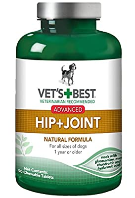 Vet's Best Advanced Hip & Joint Dog Supplements, 90 Chewable Tablets by Bramton Company