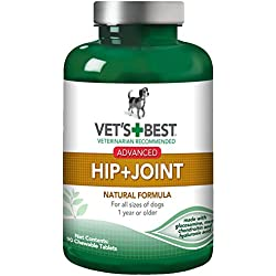 Vet's Best Advanced Hip and Joint Dog Supplements, 90 Chewable Tablets, USA Made