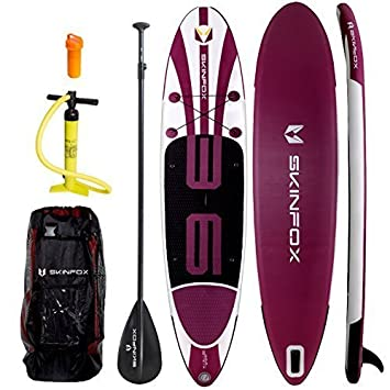 SUP Ballena alu-set weiss-violett Tablero de Paddel Stand-Up Hinchable SUP