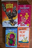 Children's VHS Classics - 4 Pack - Barney's Alphabet Zoo, Dr. Seuss Hop On Pop, THe Iron Giant & Care Bears The Gift Of Caring